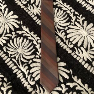 Apt. 9 Brown Striped Silk Tie